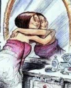 Abbraccio nello specchio